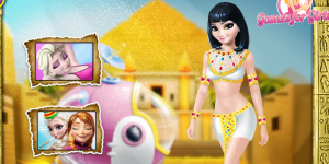 Spiel - Elsa Time Travel Ancient Egypt