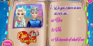 Spiel - Elsa & Jack Love Test