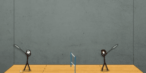 Spiel - Stick Figure Badminton 2